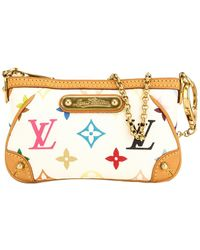 Louis Vuitton White Monogram Multicolore Canvas Pochette Milla - Multicolour