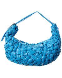Bottega Veneta Banana Leather Hobo Bag - Blue