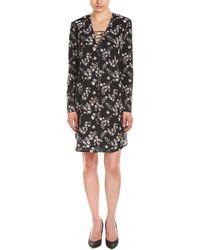 Amanda Uprichard Lace-up Shift Dress - Black