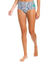 Tory Burch Printed High-waisted Bottoms - Blue