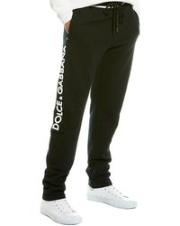 Dolce & Gabbana 3d Logo Cotton Jersey Track Trousers - Black