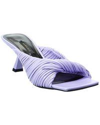 Versace Plisse Leather Sandal - Blue