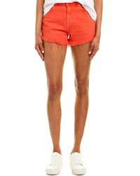7 For All Mankind 7 For All Mankind Wild Poppy High-rise Short - Red