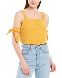 Moon River Arm Tie Top - Yellow