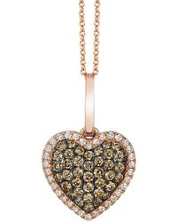 Le Vian ? Grand Sample Sale 14k Strawberry Gold? 0.34 Ct. Tw. Diamond Pendant - Metallic