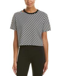 Betsey Johnson - Performance Diagonal Stripe Crop Top - Lyst