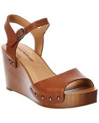 Lucky Brand Zashti Leather Sandal - Brown