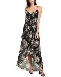 Karina Grimaldi Briana Silk-blend Maxi Dress - Black
