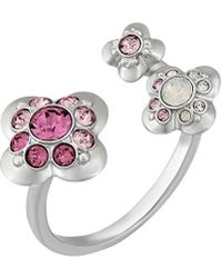 Swarovski - Crystal Cherie Plated Ring - Lyst