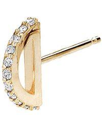 Paige Novick - 14k Diamond Single Stud - Lyst