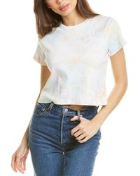 French Connection Tie-dye Baby Fit T-shirt - White