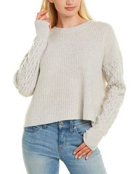 Autumn Cashmere Pearl Beaded Cashmere Jumper - Grey