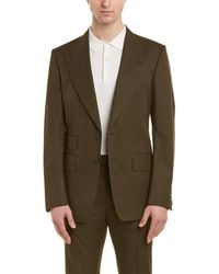 Tom Ford Shelton 2pc Suit With Flat Pant - Green