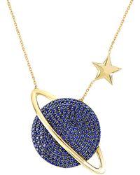 Gabi Rielle 22k Over Silver Necklace - Blue