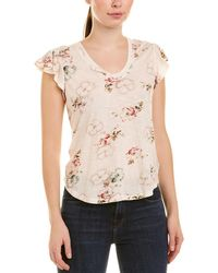 Rebecca Taylor Faded Floral Top - Natural