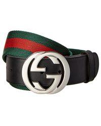 Gucci Web G Belt - Black