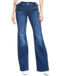 7 For All Mankind 7 For All Mankind Dark Winona Georgia Wide Leg Jean - Blue
