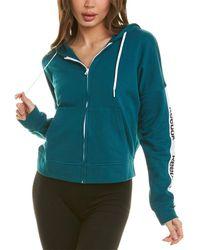 Reebok Linear Logo Full-zip Sweatshirt - Blue