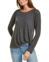 Young Fabulous & Broke Twister Linen T-shirt - Gray