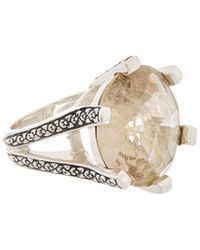 Stephen Dweck - Core Silver Gold Rutilated Quartz Ring - Lyst