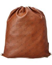 312e8eeb20dc Michael Kors Rhea Mini Perforated Leather Backpack in Red - Lyst
