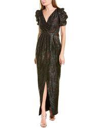 Monique Lhuillier Ml V-neck Gown - Black