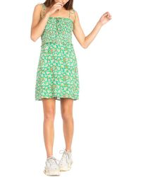 Dance & Marvel Square Neck Mini Dress - Green