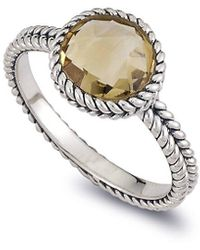 Samuel B. Silver 1.85 Ct. Tw. Citrine Ring - Metallic