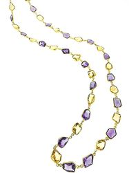 Arthur Marder Fine Jewelry 18k Gold Over Silver Gemstone Necklace - Metallic