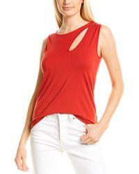 Donna Karan Cutout Tank - Red