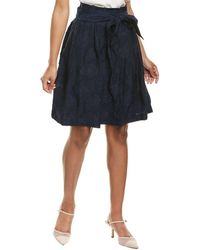 Karl Lagerfeld Burnout A-line Skirt - Blue