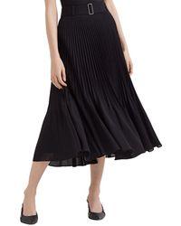 Club Monaco Split Pleat Skirt - Black