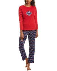 Nautica 2pc Pajama Pant Set - Red