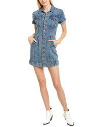 Alice + Olivia Denim Corset Mini Dress - Blue