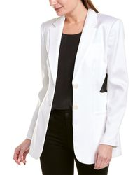 Tibi Soft Spring Suiting Cutout Blazer - White