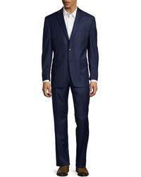 Lauren by Ralph Lauren - Regular Fit Solid Wool Suit - Lyst