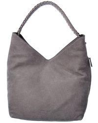 Rebecca Minkoff Chain Leather Hobo Bag - Grey