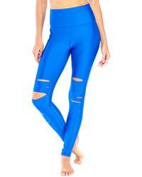 Electric Yoga The Slash Legging - Blue