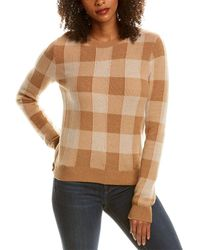 Theory Plaid Silk & Cashmere-blend Pullover - Brown