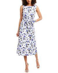 Anne Klein Humboldt Midi Dress - White