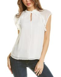 Vince Camuto Ruffle Blouse - White