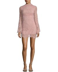 Haute Rogue - Lace Mockneck Dress - Lyst