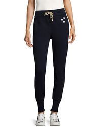 Mother High Waisted Slim Gym Jogger - Blue