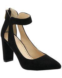 Adrienne Vittadini Nieves Suede Ankle Strap Pump - Black