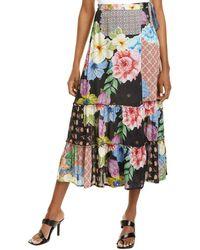 Raga Piper Wrap Skirt - Black