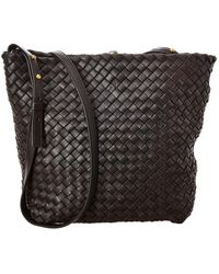 Bottega Veneta Cabat Intrecciato Leather Bucket Bag - Multicolour