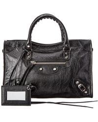 Balenciaga Classic City Small Leather Shoulder Bag - Black