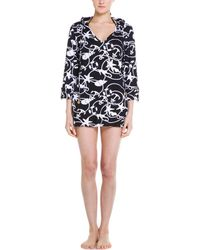 Macbeth Collection - Macbeth Multi Sea-print Hooded Cover-up - Lyst