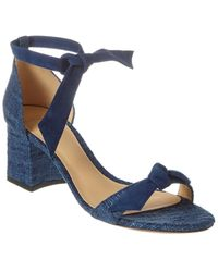 Alexandre Birman Clarita 60 Suede Sandal - Blue