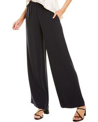 Vince Wide Leg Pull-on Pant - Blue